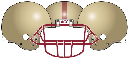 Boston College 2005 Gold Helmet