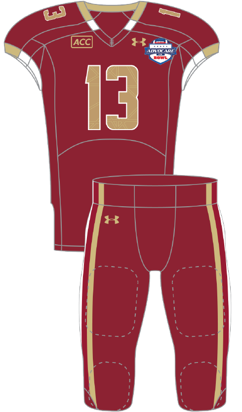 Boston College 2013 maroon