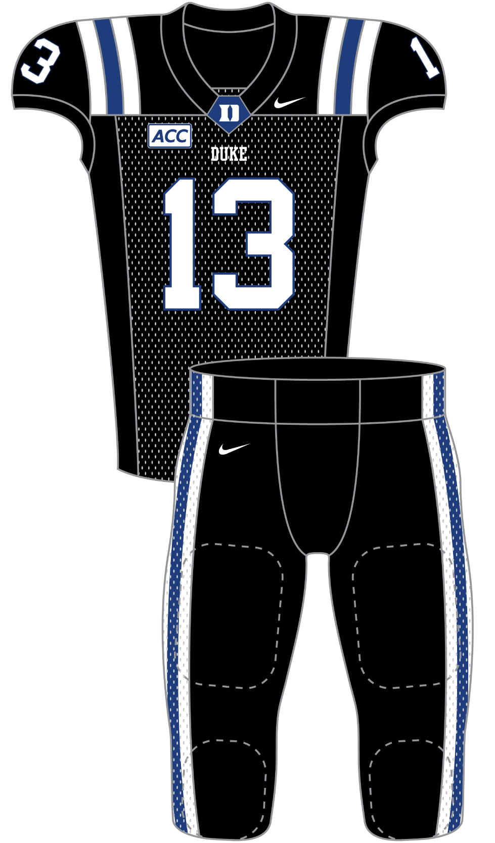 Duke 2013 Black Uniform