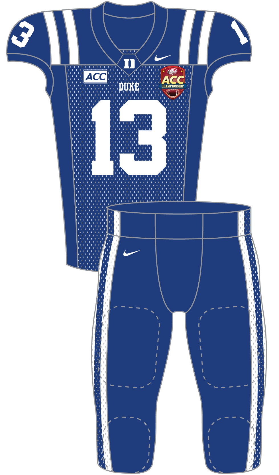 Duke 2013 Blue Uniform