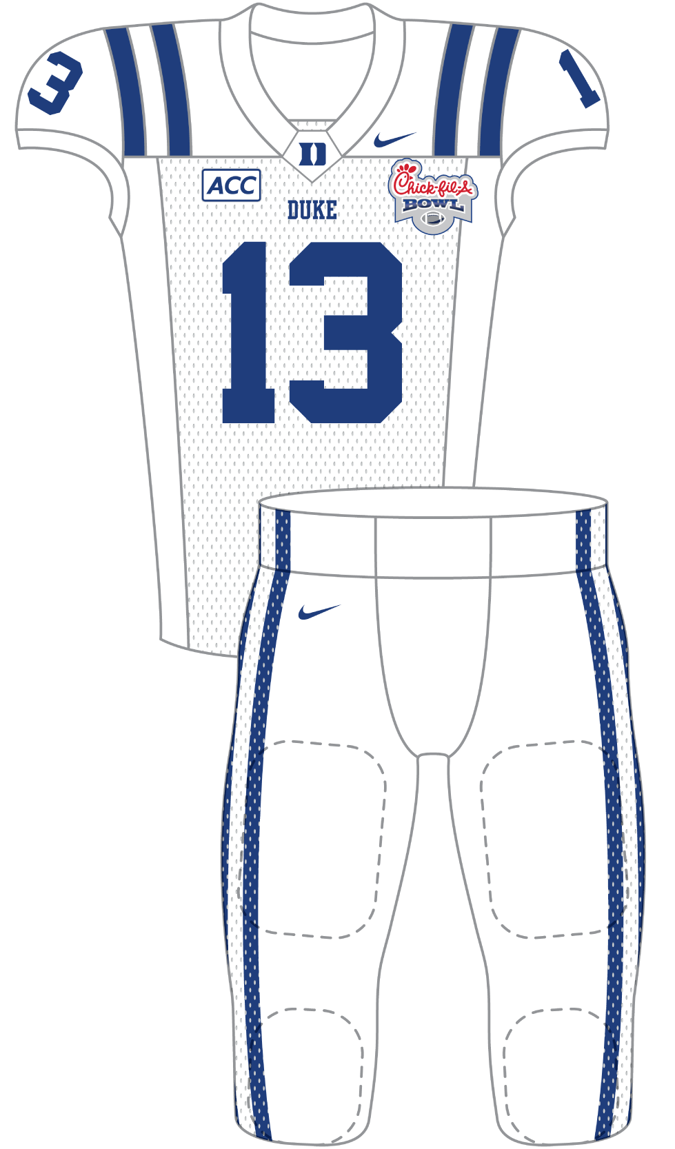 Duke 2013 White Uniform