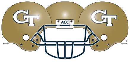 Georgia Tech 2005 Gold Helmet
