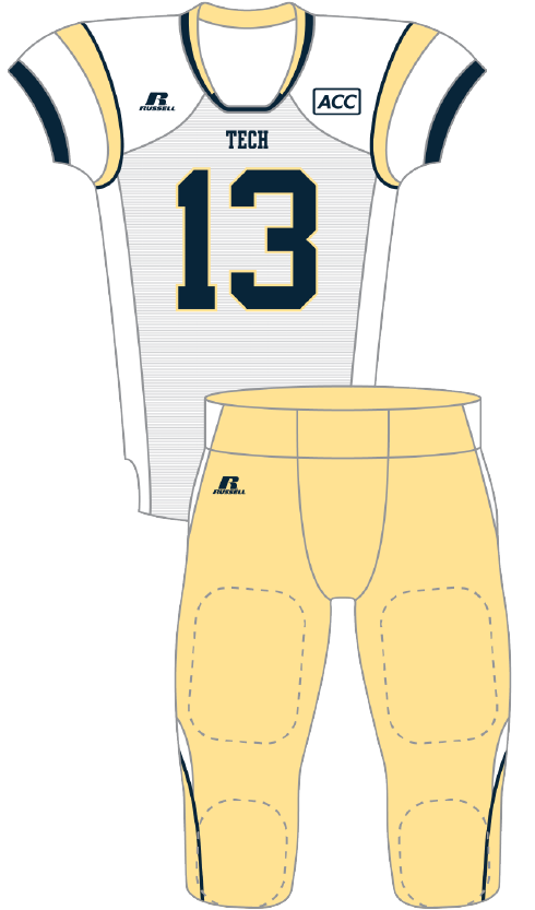 Georgia Tech 2013 White Uniform