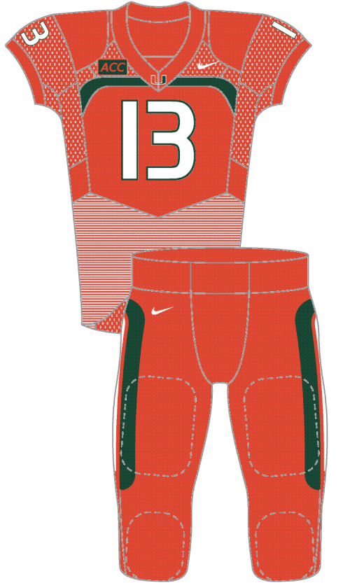 Miami 2013 Orange Uniform