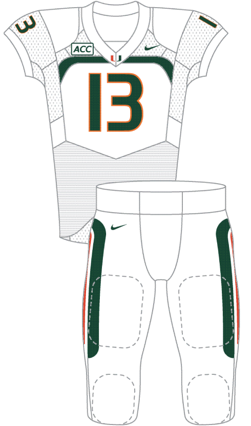Miami 2013 White Uniform