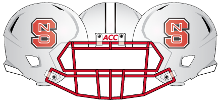 2013 NC State White Out Helmet