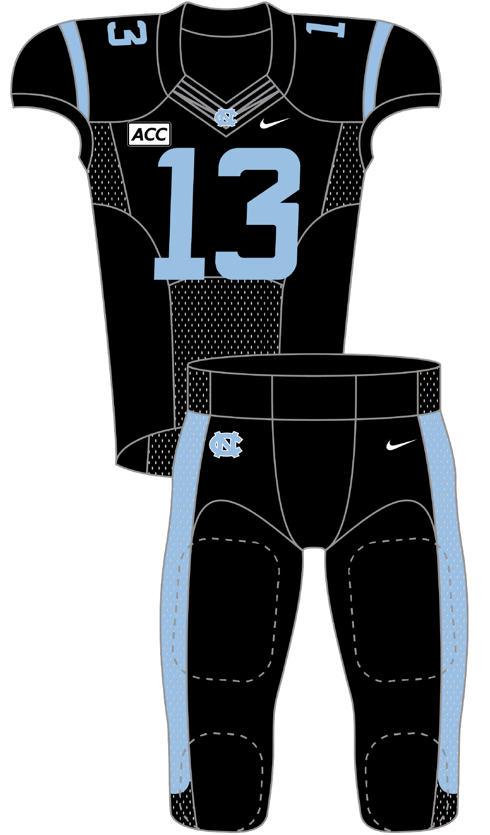 North Carolina 2013 Black Uniform