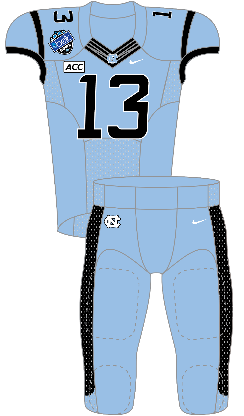 North Carolina 2013 Blue Uniform