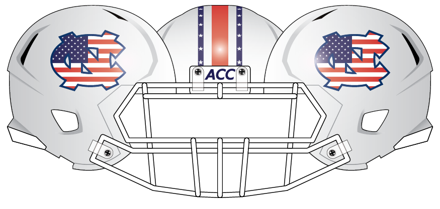 North Carolina 2013 Flag Helmet