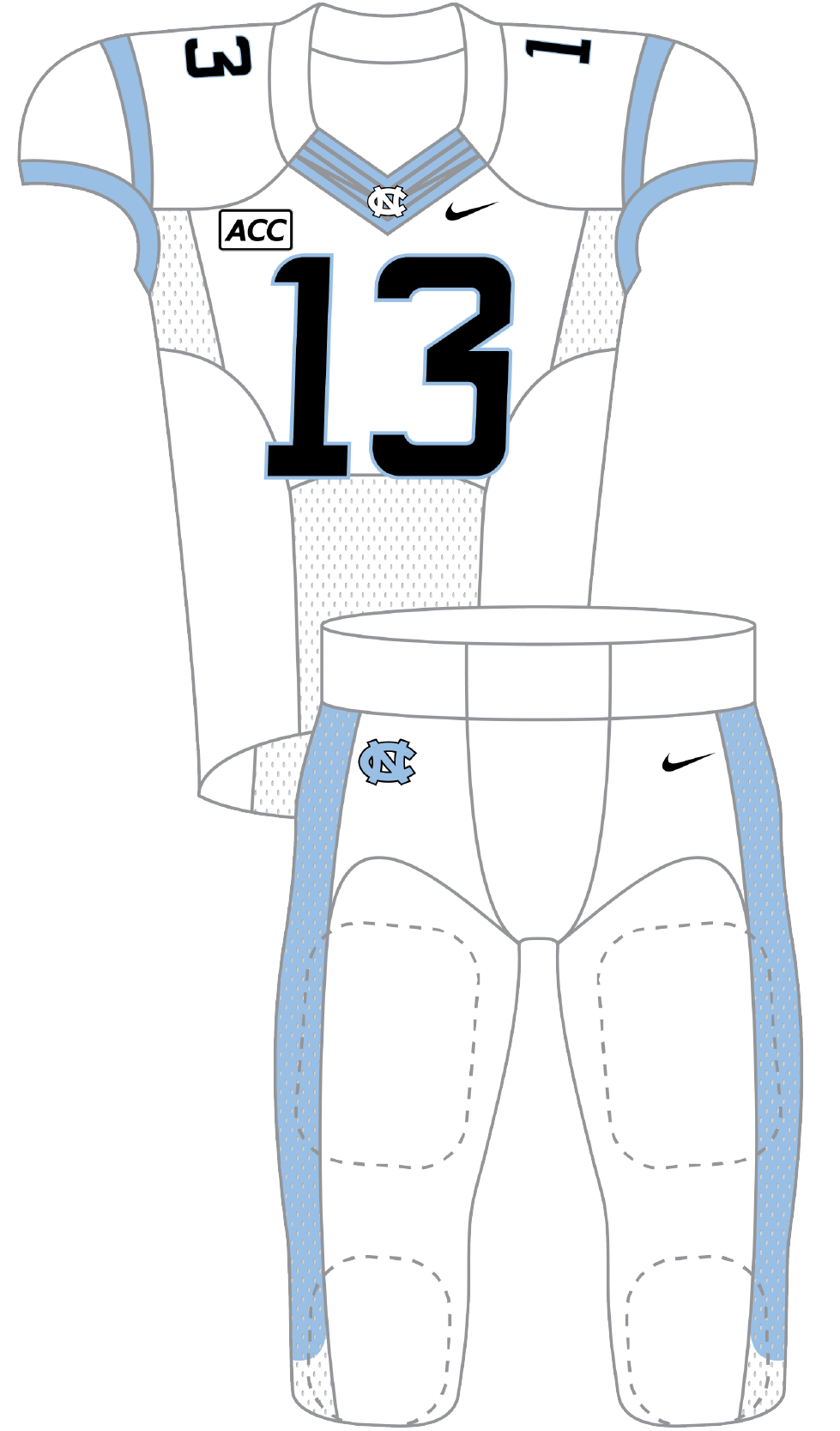 North Carolina 2013 White Uniform