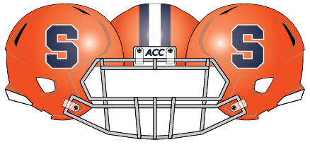 Syracuse 2013 Helmet Orange