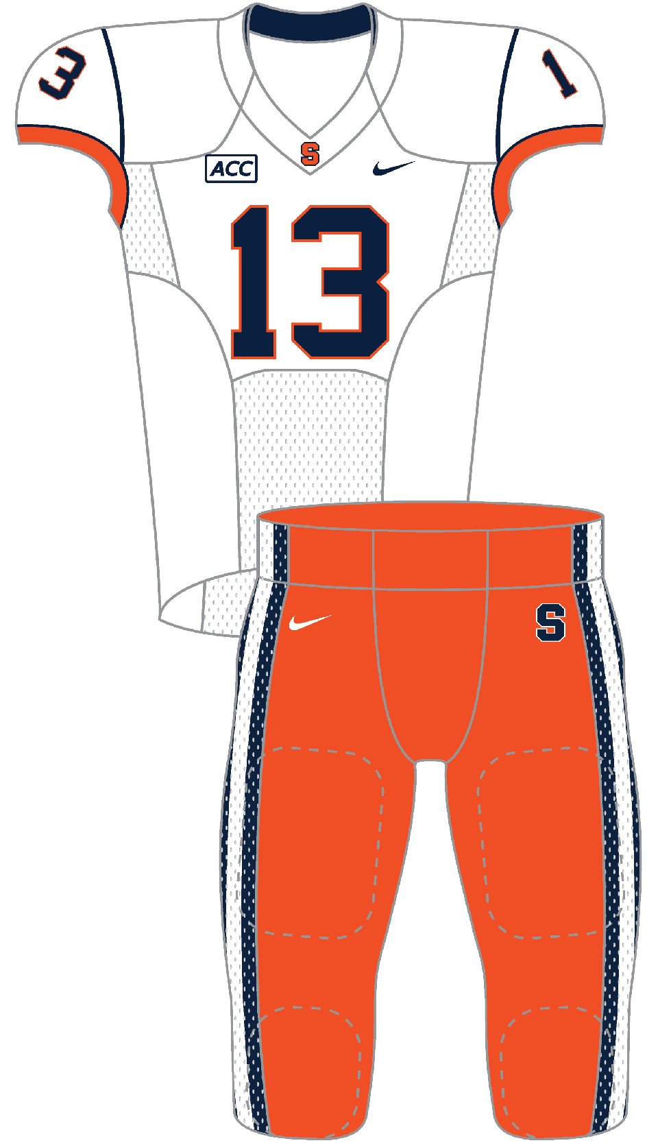 Syracuse 2013 White