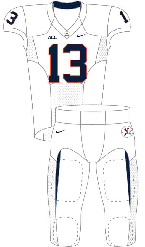 Virginia 2013 White Uniform