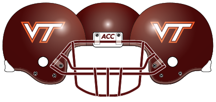 Virginia Tech 2004 Maroon Helmet