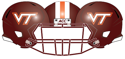 Virginia Tech 2011 Maroon Stripes Helmet