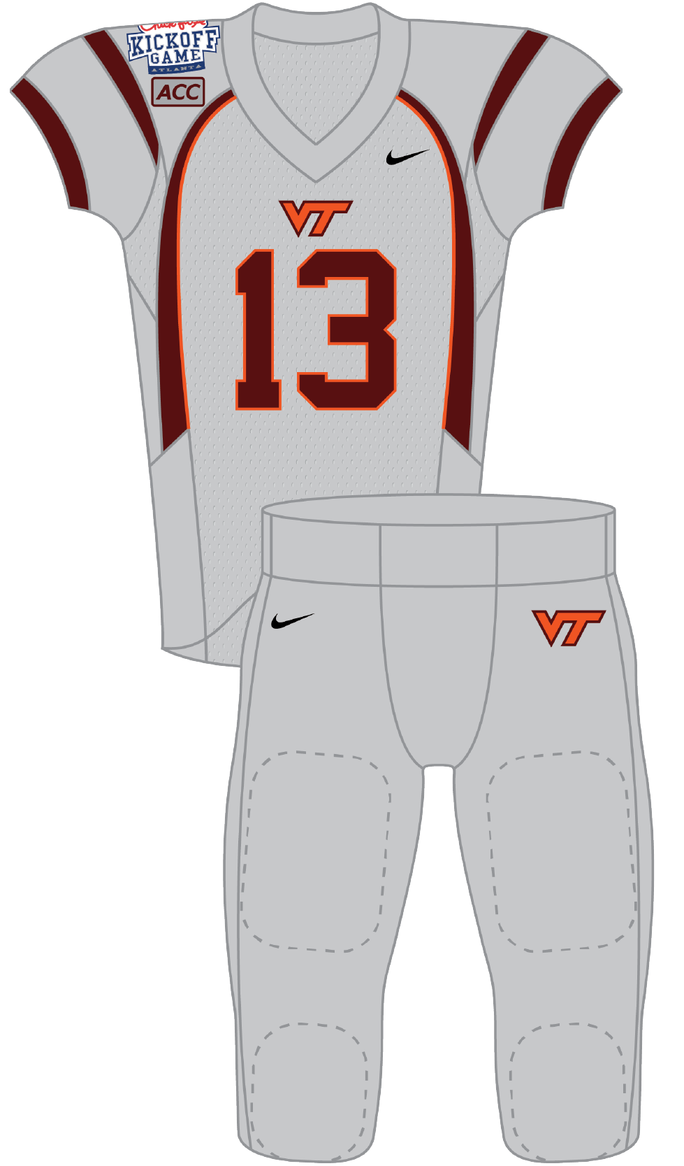 Virginia 2013 Grey Uniform