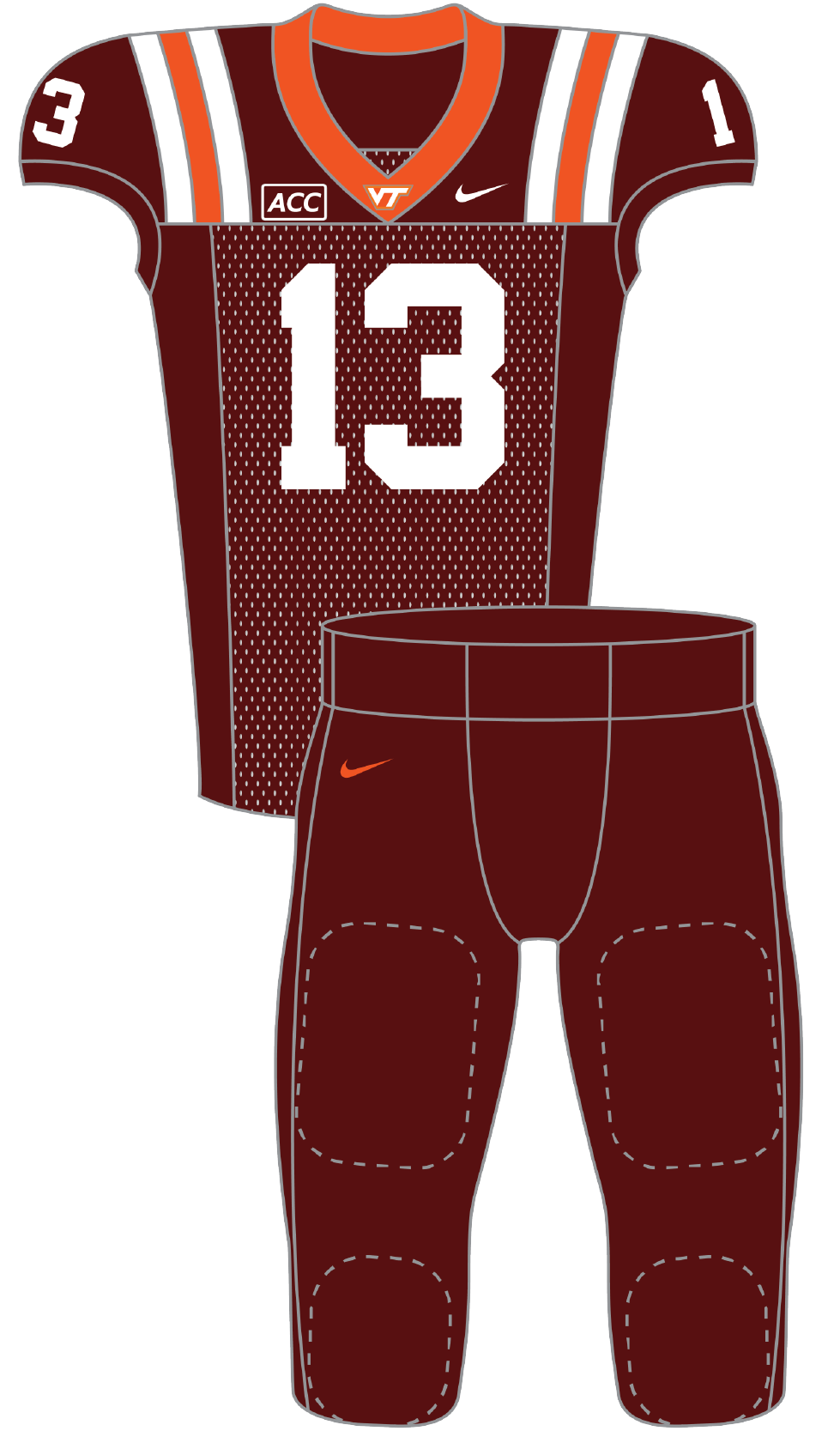 Virginia 2013 Maroon Uniform