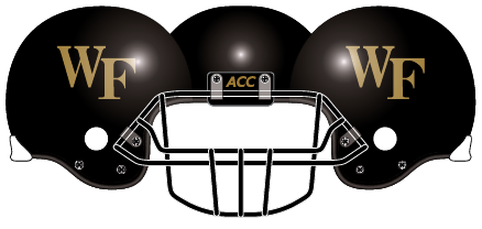 Wake Forest 2005 Black Helmet